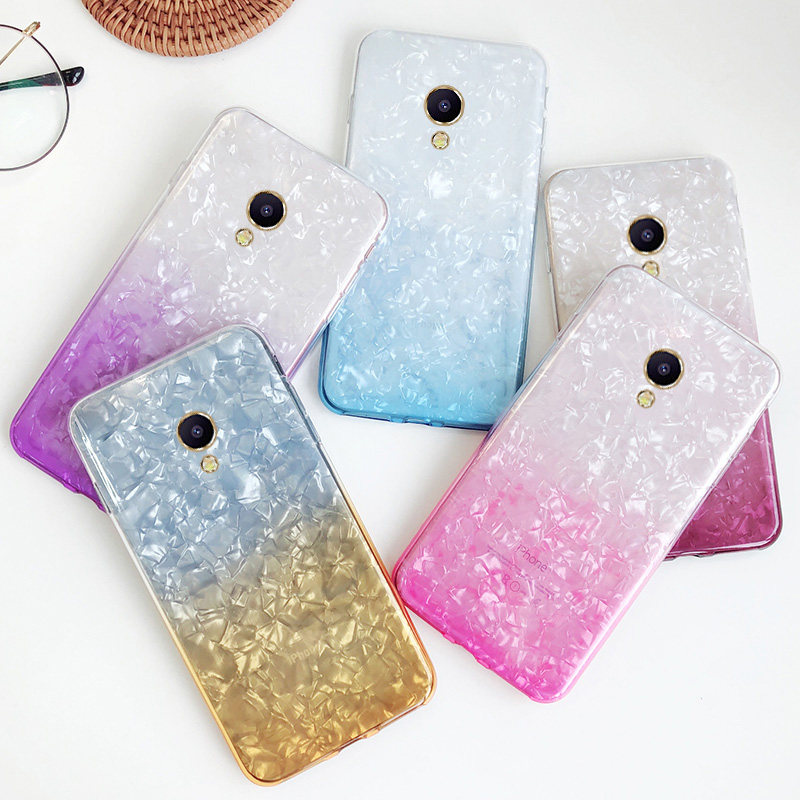 Hot Colorful Gradient Soft Phone Case For Meizu M5S M5C M5 M3 M3S Note 3 5 M5A Slim Silicone Conch Shell U10 U20 Cover
