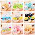 0-9M Wholesale Lovely Baby Warm Slippers Cotton Socks Infant Bebe Kids Cartoon Animal Boys Girls Anti-slip Wear