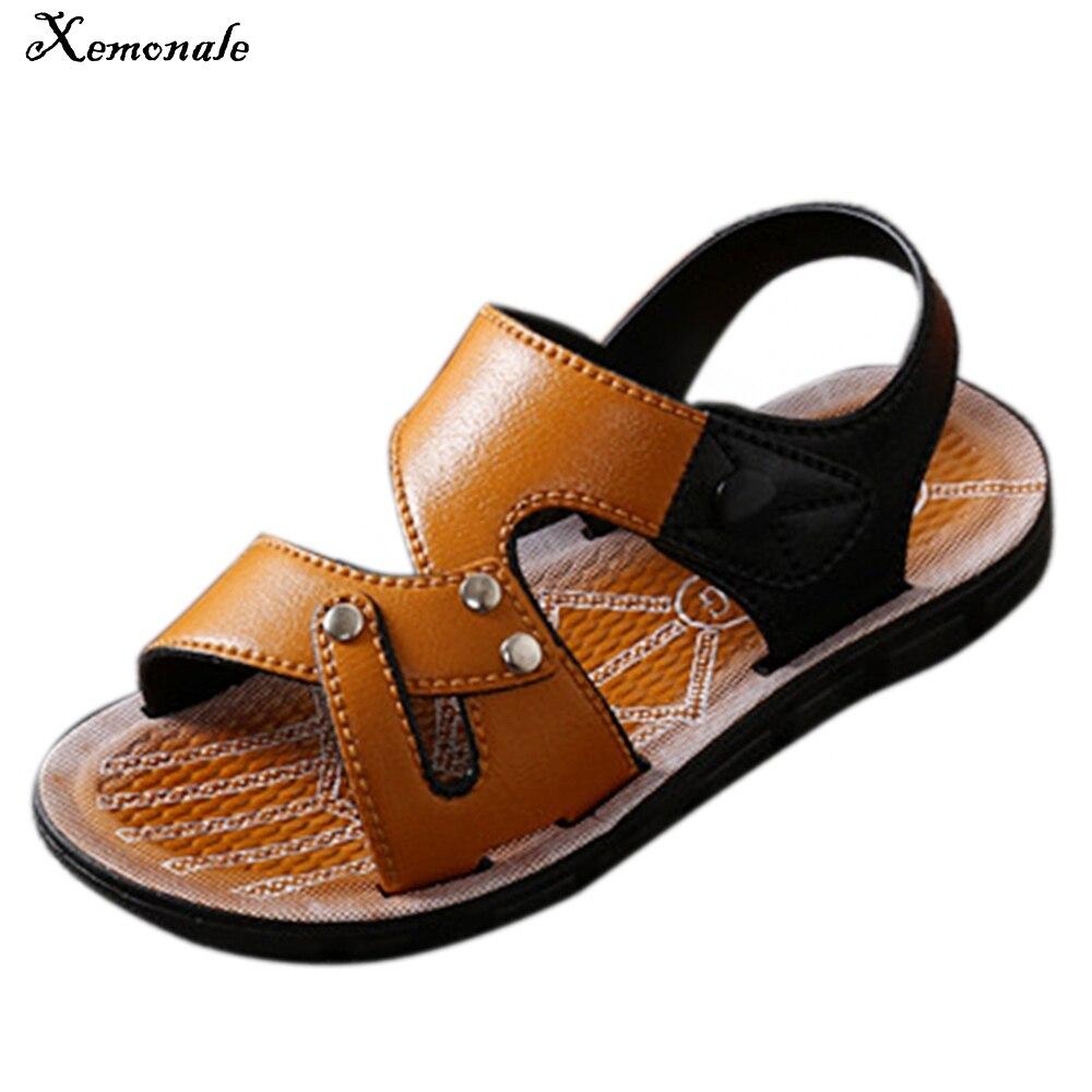 Xemonale nuovo traspirante sandali dei bambini 2017 dei ragazzi di estate  casuale cuoio DELL UNITÀ 181782b6016