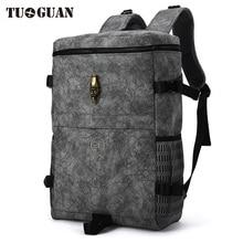 Здесь можно купить  China Famous Brand Vintage Men/Women Backpack Waterproof PU Leather Back Pack School Laptop Bagback Bag Travel Backpack for Male  Backpacks
