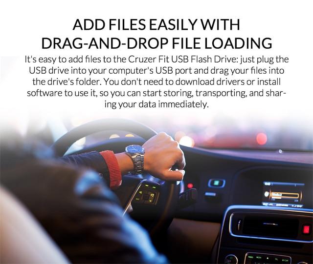 SanDisk USB Flash Drive Cruzer Fit Pen Drive 8GB 16GB 32GB 64GB mini USB Stick USB 2.0 U Disk for Laptop Desktop Car audio