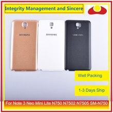 10 ชิ้น/ล็อตสำหรับ Samsung Galaxy Note 3 NEO MINI Lite N750 N7502 N7505 แบตเตอรี่ประตูด้านหลังกรณีแชสซี SHELL
