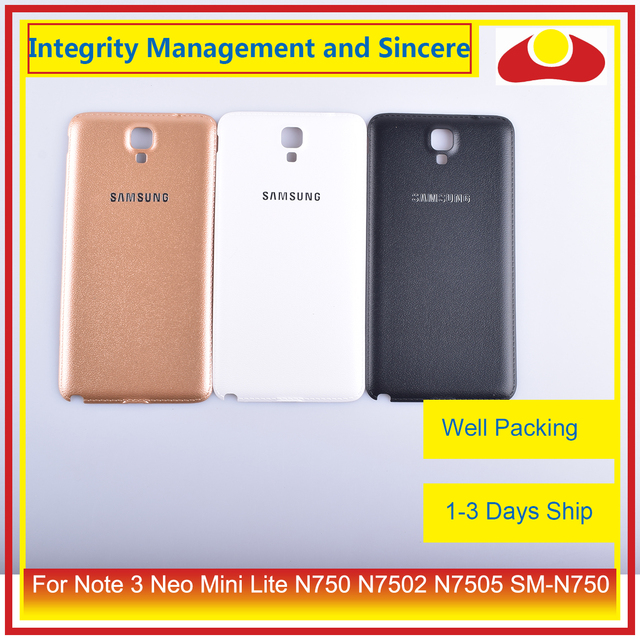 10Pcs/lot For Samsung Galaxy Note 3 Neo Mini Lite N750 N7502 N7505 Housing Battery Door Rear Back Cover Case Chassis Shell