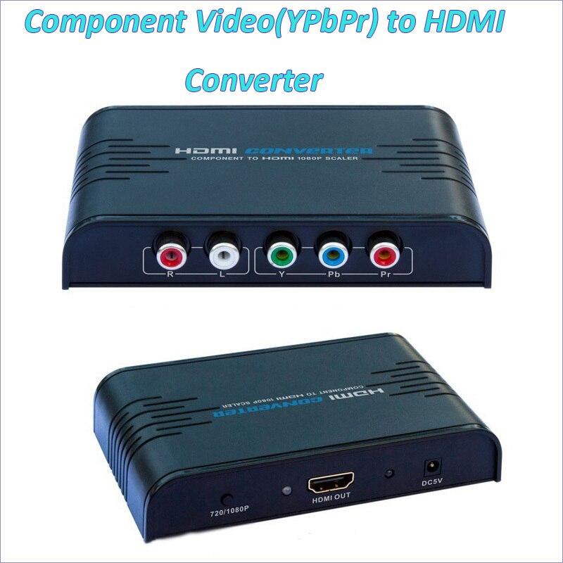 Новый компонентного видео YPbPr к HDMI конвертер преобразовывает HD компонентного видео YPbPr и аудио R/l к HDMI Бесплатная доставка