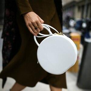 Image 2 - Brand Chic Round Handbags Women 2019 High Quality PU Leather Women Bag Round Cute Girl Messenger Bag Shoulder Sac Bolsa Female