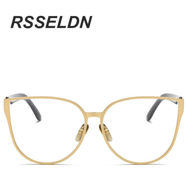 Cat Eye Eyewear Frames Men Clear Lens Glasses Frame Female Hipster ...