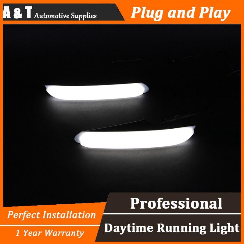 car styling For peugeo 408 LED DRL For 408 led daytime running light High brightness guide LED DRL For Light guide style