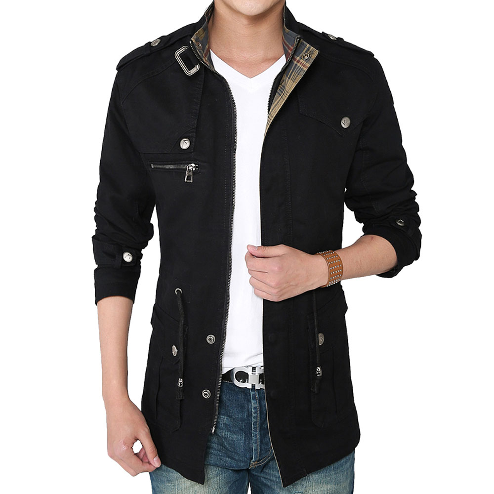 casual jacket Picture - More Detailed Picture about New Men's Long ...