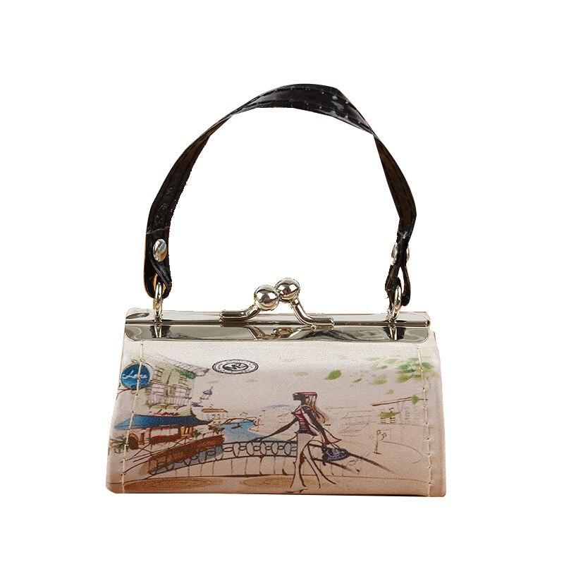 JUILE Fashion printing Women Handbag designer wild ladys small square bag purse New youth Girl shopping simple handbag phone Bag