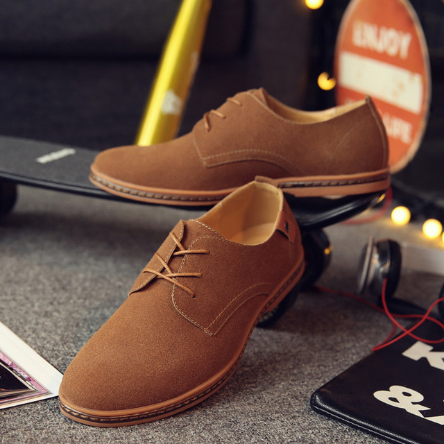 2017 Hot Sale Fashion Men Suede Leather Casual Shoes  1