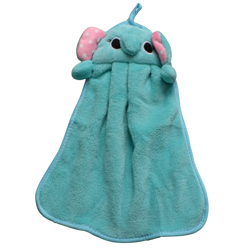 Children Kids Beach Hanging Kitchen Bath Room Absorbent Dry Hands Cute  Lovely Knitted Flocking Soft Microfiber Fabric Hand Towel