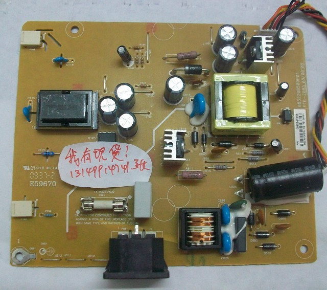 Free Shipping> LEN L171 Power Board PTB-2085 6832208500P01 pressure plate !-Original 100% Tested Working free shipping original e172fpt 6832142100 02 02 ptb 142 141 power board original 100% tested working