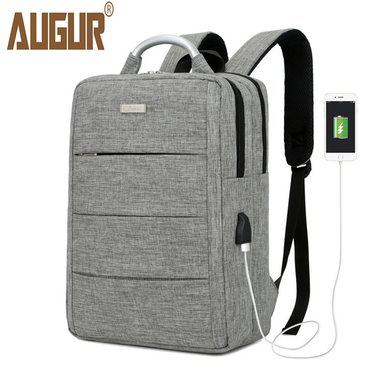 AUGUR Fashion Backpacks USB Charging For 15inch laptop Back pack Large Capacity Stundet School Casual Style Bag Water Repellent augur 2018 brand men backpack waterproof 15inch laptop back teenage college dayback larger capacity travel bag pack for male