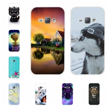 For Samsung Galaxy J1 2016 Cover TPU J120 J120F J120H Case Fashion Pattern Duos Coque