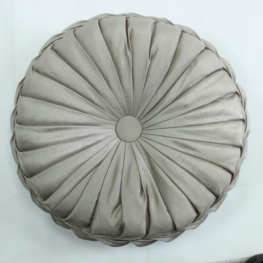 VEZO HOME handmade round sofa decorative satin cushions plush ...