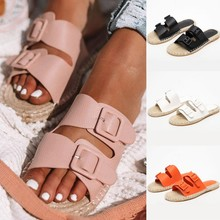2019 Shoes Woman Sandals High Heels Women Flat Casual Summer Genuine Platform Slippers
