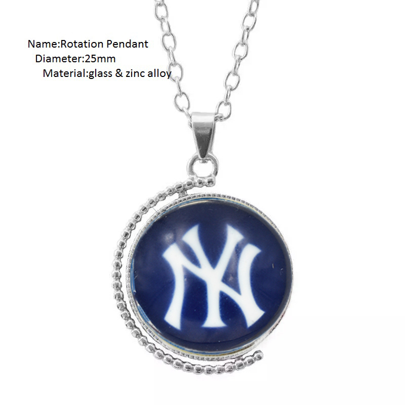 10 PCS High Quality NY Yankee Baseball Team Earring Dangle Shoe buckle Necklace Ring Ser ...