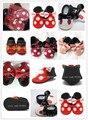 Nova moda Mocassins de Couro Genuíno franja arco polka dot Bebê Mickey e Minnie Sapatos de Bebê Primeira Walker sapatos de bebê recém-nascido