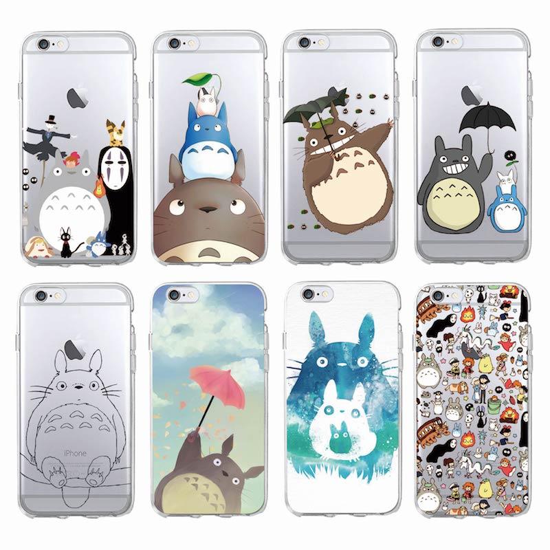 Jolie coque de téléphone portable Totoro Spirited Away Ghibli Miyazaki, étui souple et transparent, pour iPhone 1112Pro Max 7Plus 6 6S 5 5s 8 8Plus XS ...
