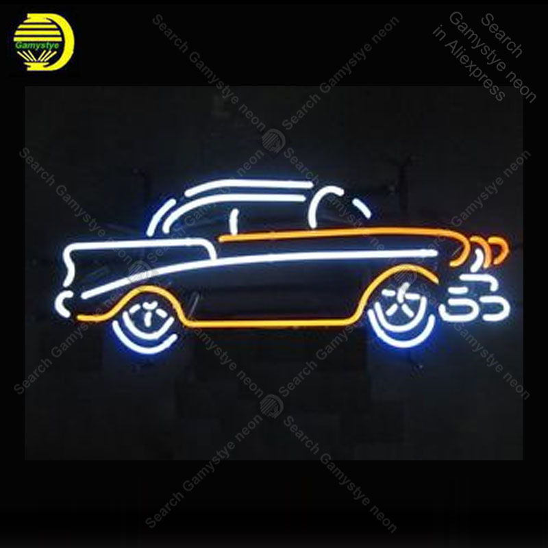 Neon Sign for Vintage Old Car Neon Bulb sign handcraft Recreation Wall Neon light bulb sign Custom Bar room Accesaries Lamp image