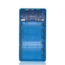 Çift usb güç bankası 6x18650 harici yedek batarya şarj cihazı telefon kılıfı