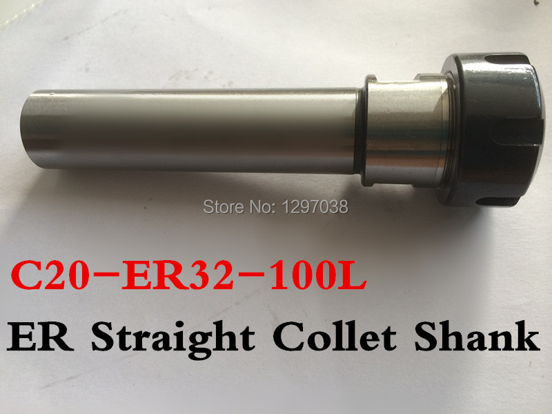 цена на C20-ER32-100L Shank diameter 20mm Collet Chuck Holder Extension Straight Shank 100mm for ER32 Collet with ER32 A Type Nut