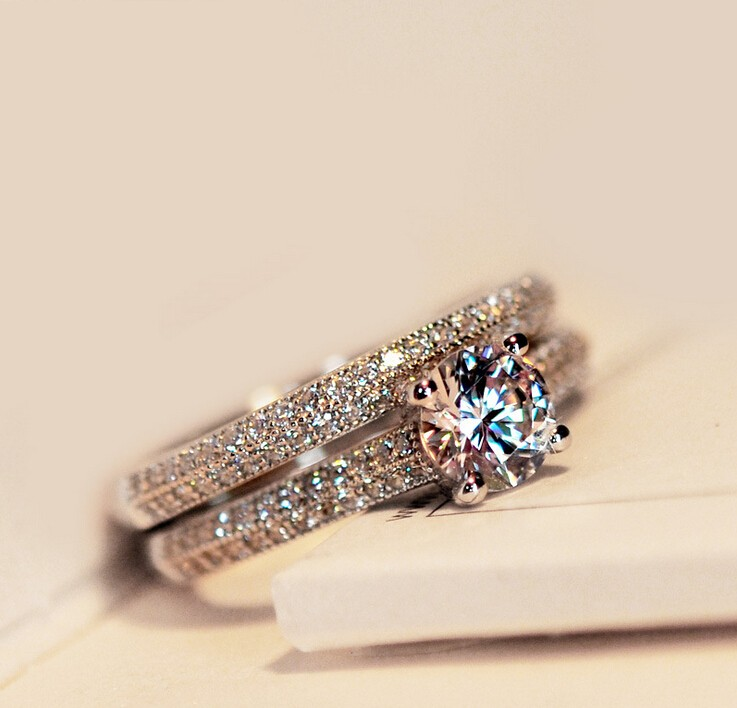 Online Get Cheap Solitaire Wedding Ring Aliexpresscom Alibaba