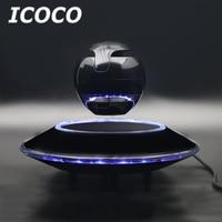 ICOCO Magnetic Floating Levitating Bluetooth Speaker Lighting Suspension Ball Shaped Speaker Light Saucer Base Sale Drop