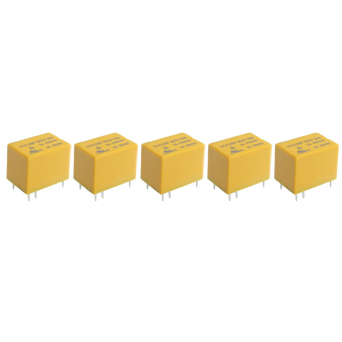 цена на Promotion! HT4100F DC 5V Coil 6 Pin General Power Relay SPDT 5 Pcs