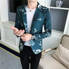 Flowers Men Blazer Floral Mens Suits Tuxedos Jacket Wedding for White Black Green