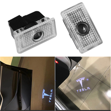 купить 2X LED Car Door Logo Courtesy Ghost Welcome Light Projector Laser Shadow Lamp For Tesla MODEL 3 MODEL S MODEL X по цене 949.68 рублей