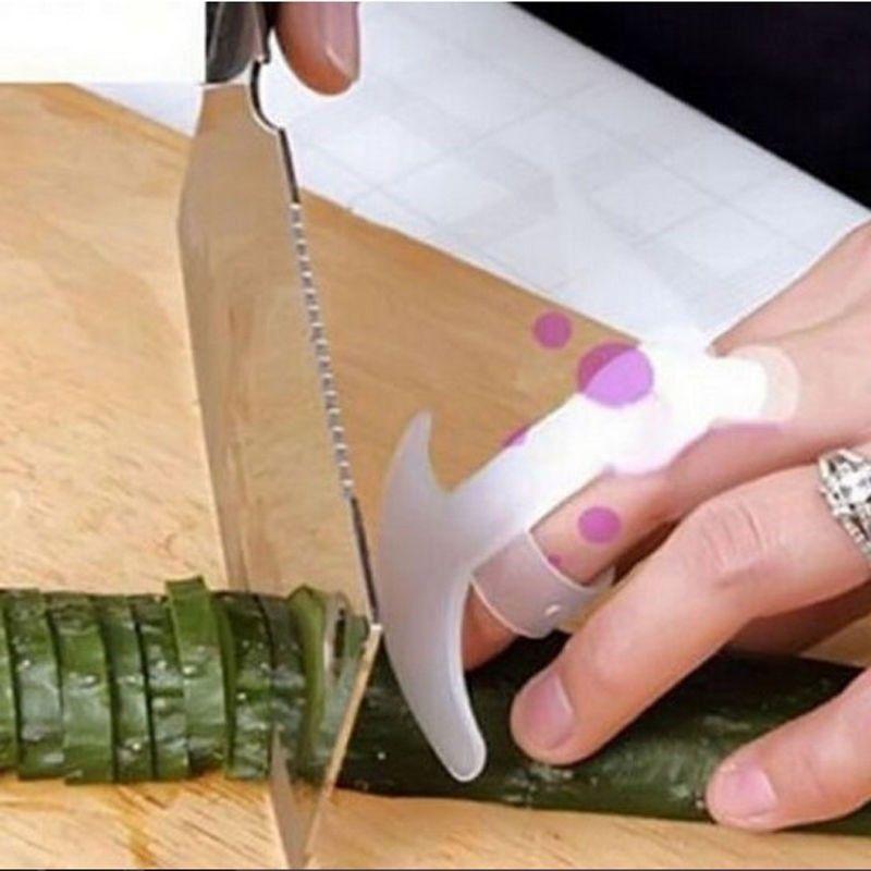 Lot 5pcs Kitchen Gadgets Security Design Food Knife Slice Chop Cut Vegetable Rest Anti-cut Finger Protector Hand Guard