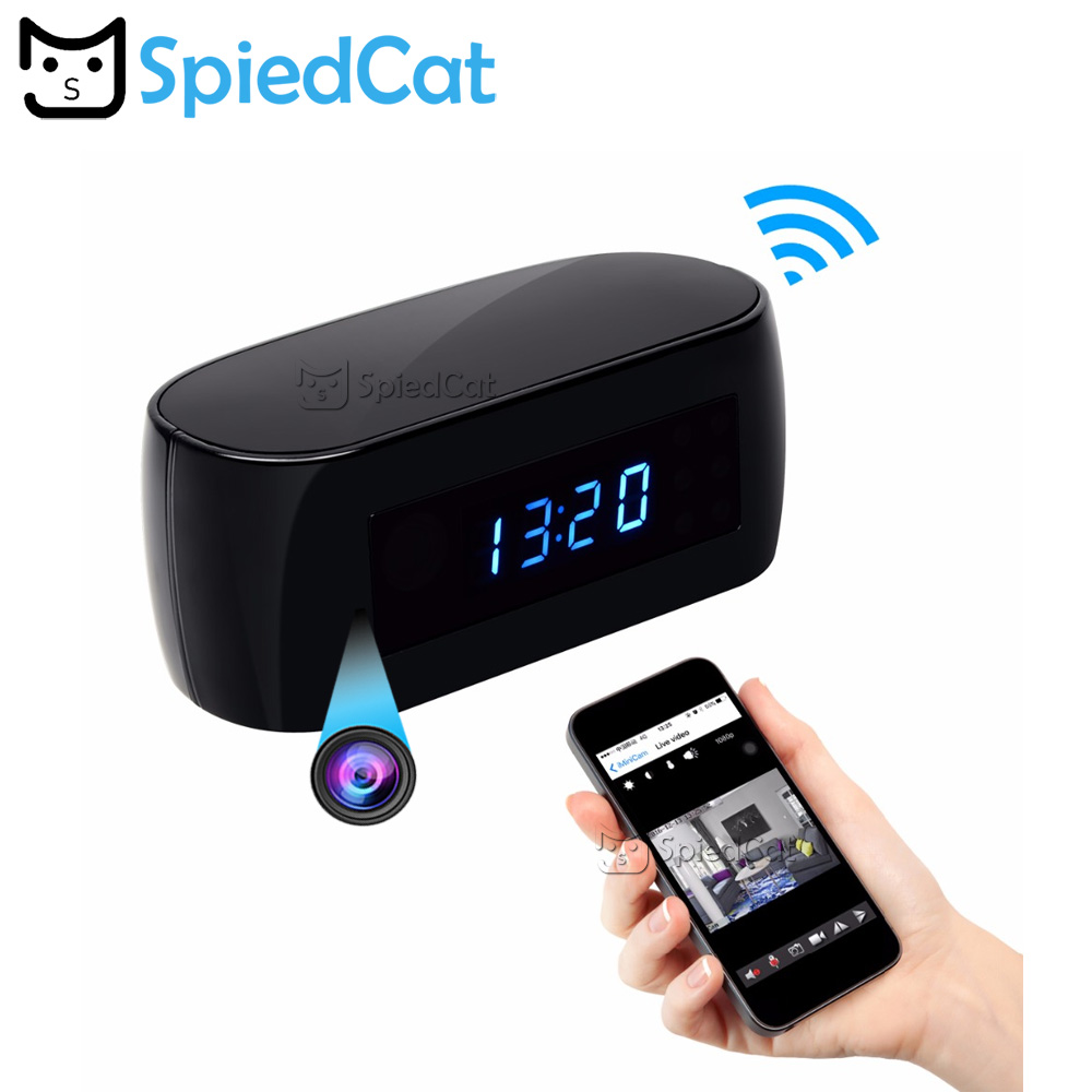 NEW HD 1080P Clock WIFI Camera Wireless P2P IP Security Cameras Night Vision Support IOS Android