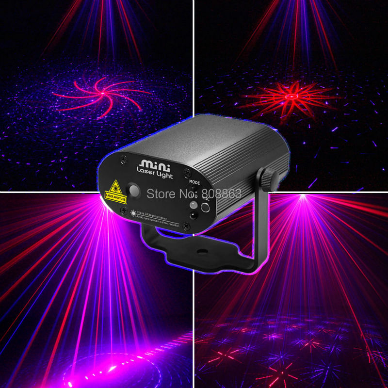 New Model 16 Patterns Red BLUE 200mw projector Remote Laser Stage Disco DJ Dance Home Party lighting Light Show system cb16