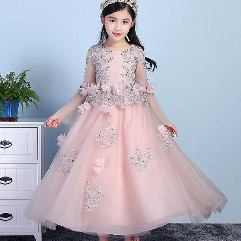 Children 's Dress Princess Flower Girl Performance Dress Girl Wedding Dress Birthday Evening Dress Puff babyonline dress 1201 черный s