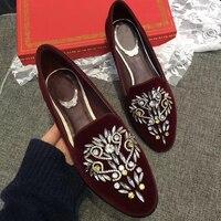 2019 женская обувь с блестками, украшенная кристаллами, без шнуровки, женская обувь на плоской подошве, sapato feminino, бархатные женские лоферы с ни