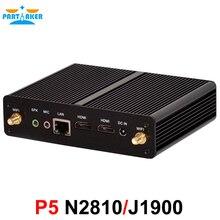 Partaker Barebone mini pc N2810 Dual core J1900 Quad core 1 LAN 1080P 12V Mini Desktop Computer 2 HDMI Free Shipping