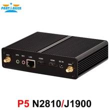 Причастником Barebone Mini PC N2810 двухъядерный J1900 Quad Core 1 LAN 1080 P 12 В мини настольный компьютер 2 HDMI Бесплатная доставка