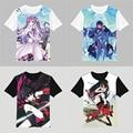 Бесплатная доставка akame га УБИТЬ футболки Akame косплей тройники Kurome Шахты мужская короткий рукав рубашки, потому Футболке