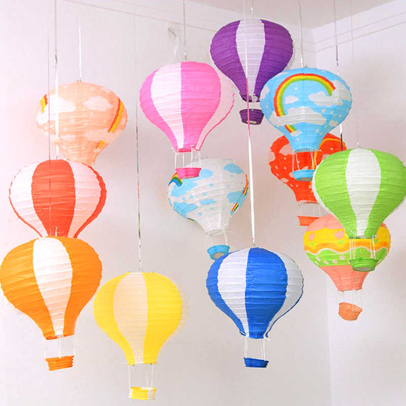 10''25CM Wedding Birthday Decor Hot Air Balloon Paper Lantern Christmas Festival Bar Decor Craft DIY Hanging Air Balloon Lantern