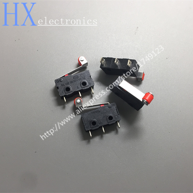 Free shipping 50PCS 3pin All New Limit Switch N/O N/C 5A250VAC KW11-3Z Mini Micro Switch With Pulley