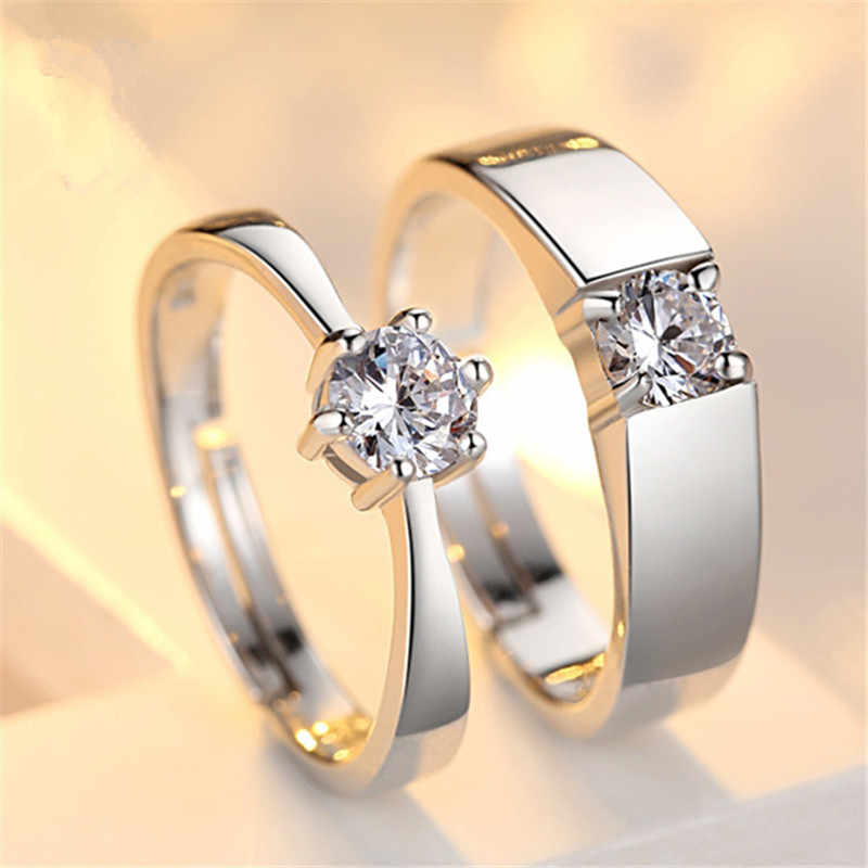Fashion Jewelry Concise Couple Rings For Men Women Valentine's Day Present