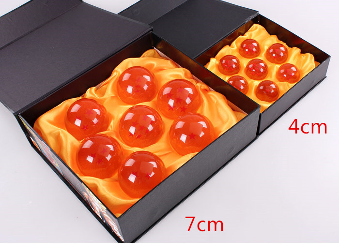 10 sets lot Dragon Ball Toys crystal balls 7cm Dragonball figure set of 7pcs Goku Doll