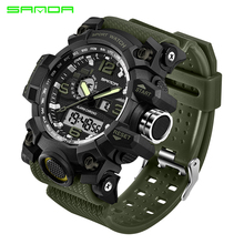 hot deal buy sanda watches men analog quartz digital watch waterproof sports watches for men silicone led electronic watch relogio masculino