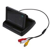 """4.3 """"Pieghevole Pieghevole LCD Monitor di Retrovisione di Backup Della Macchina Fotografica Per Auto"""