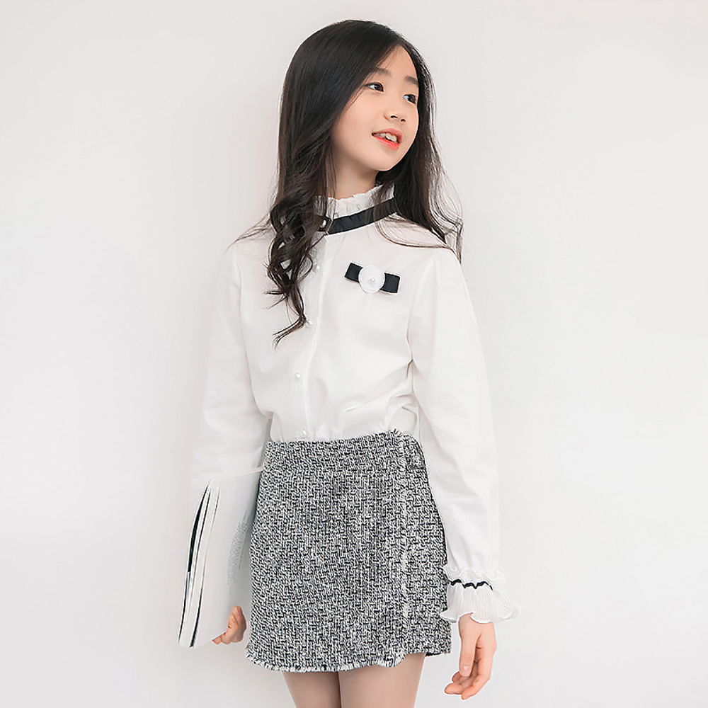 B-B17066 Spring Fashion Girls Shirt Autumn Girls t-shirt Long Sleeves Tees Summer Tops Kids Clothes Girls 95% Cotton TShirt