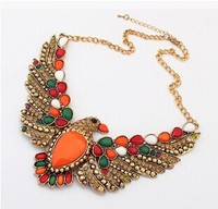 Rainbow wing gypsy antieke metalen eagle ketting/2015 indian sieraden dames kraag/kraag/collier femme/groothandel gratis verzending