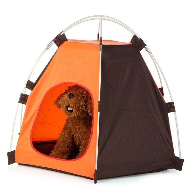 Convenient Oxford Pet Dog Cat Folding House Tent Sun Beach Tent Indoor Outdoor Waterproof Tent Kennel  sc 1 st  AliExpress.com & Convenient Oxford Pet Dog Cat Folding House Tent Sun Beach Tent ...