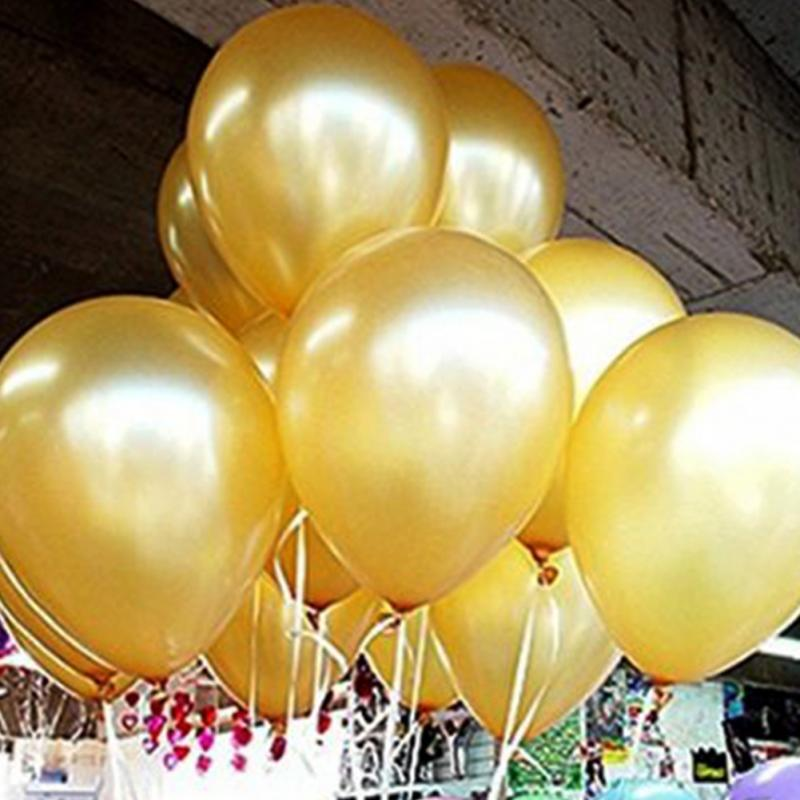 New 100pcs 12inch Latex Gold Balloon Celebration Party Wedding Birthday Balloons