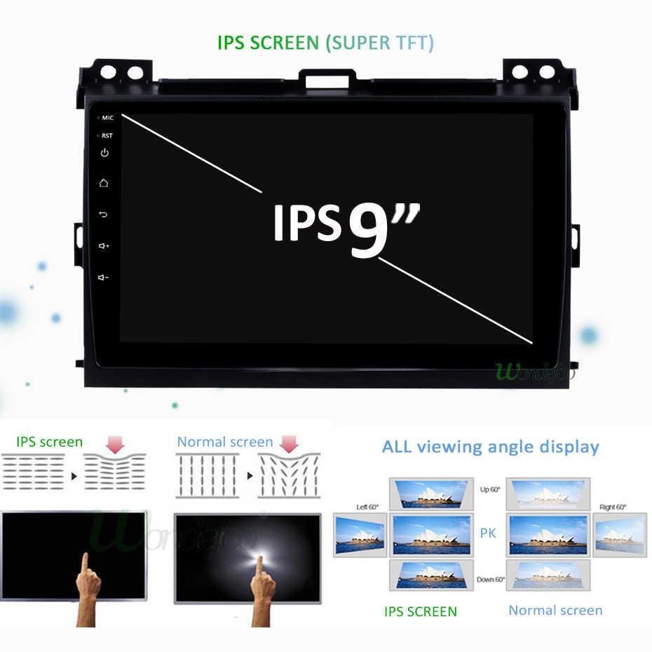 64G DSP Android 9,0 IPS GPS de coche para Toyota tierra crucero Prado 120 2003-2009 Lexus GX470 de navegación Multimedia Radio estéreo No DVD